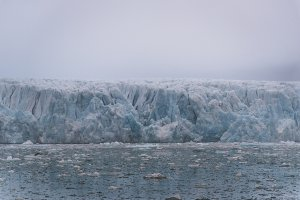 Glacier and Icebergs on Svalbard