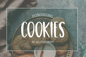 Cookies a fun and casual SVG font