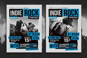 Indie Rock Music Concert Flyer