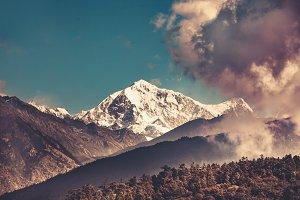 Himalayas mountain landscape. Trekking in Nepal