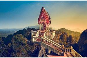 View from Tiger Temple (Wat Tham Sua). Thailand