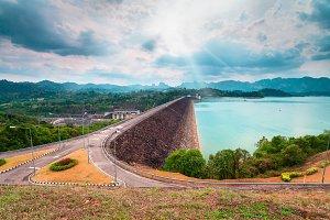 Ratchaprapha Dam Surat Thani province,Thailand