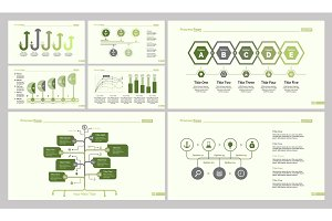 Seven Business Slide Templates Set