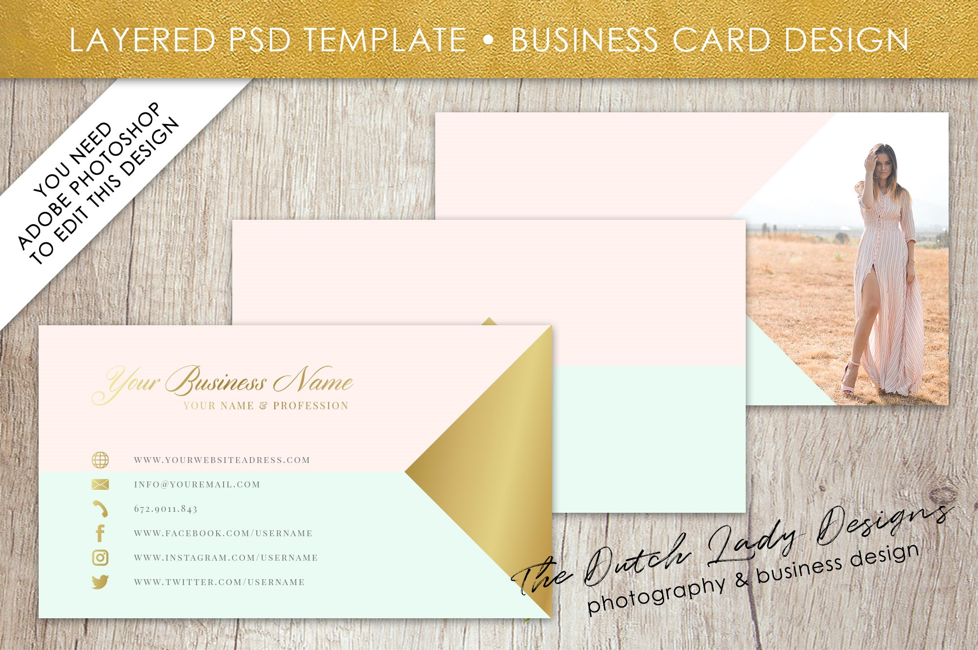 Photoshop Business Card Template Business Card Templates - Photoshop business card template