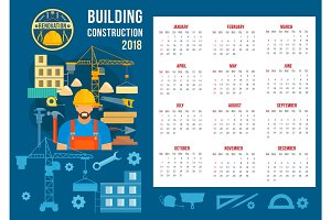 Vector poster for home building construction