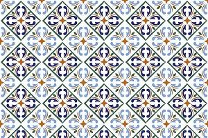 Moroccan blue tiles print