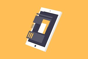 After Effects 3D Rotating iPad