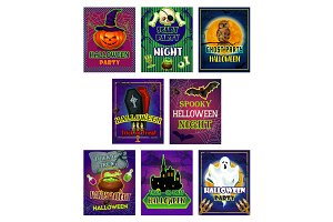 Halloween horror night party invitation card