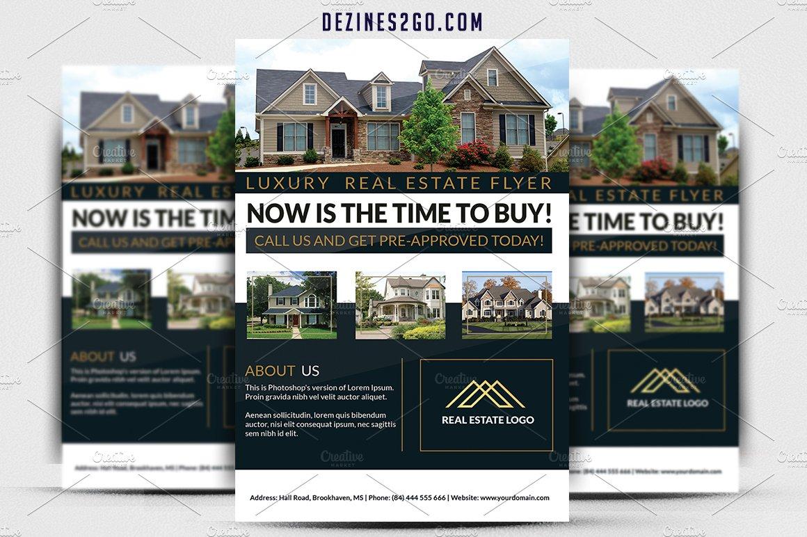 Luxury Real Estate Flyer ~ Flyer Templates ~ Creative Market