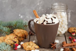 Hot Christmas cacao