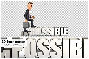 3D Businessman Impossible
