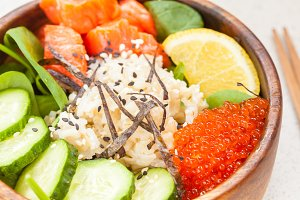 Hawaiian fish poke bowl