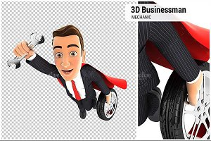 3D Mechanic Superhero