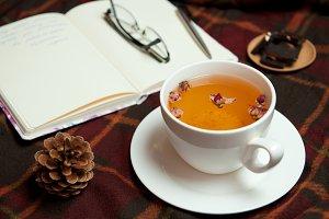 Tea break. Work at home