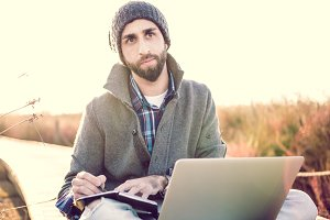 Notebook and laptop, outdoor