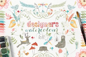 Woodland Watercolour Designer's Kit