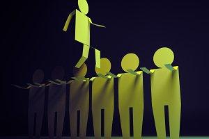 Helping Teamwork Concept