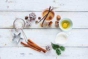 Christmas baking frame