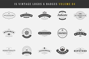 15 Retro Vintage Logotypes, Badges