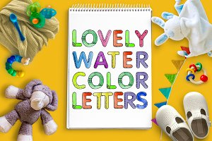 Lovely watercolor letters