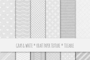 Gray Geometric Seamless Patterns