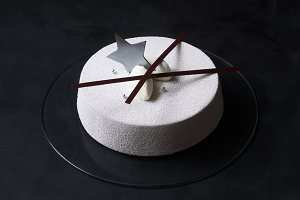 Contemporary Chocolate Mousse Cake