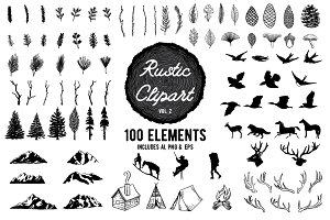 Rustic Clipart Designs Vol 2