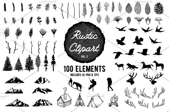 Rustic Clipart Designs Vol -Graphicriver中文最全的素材分享平台