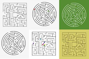 Maze labyrinth with entry and exit