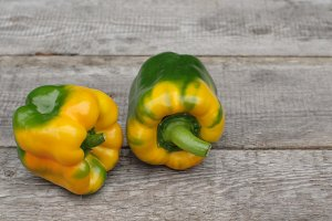 Yellow and red peppers