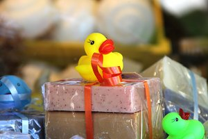 Rubber Ducky and Soap Gift Wrap