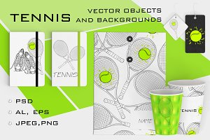 TENNIS objects and backgrounds