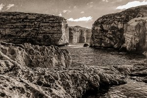 Fungus Rock in the Dwejra Bay