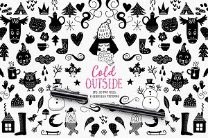 Cold Outside - winters vectors