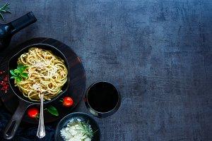 Pasta with crab sauce