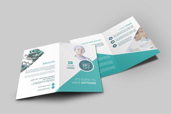 medicine bi fold brochure brochure templates creative market