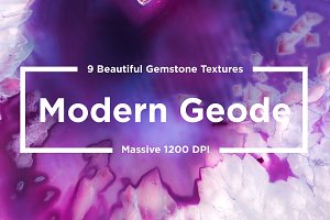 Modern Geode Gemstones