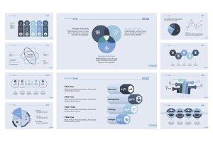 Business presentation design set