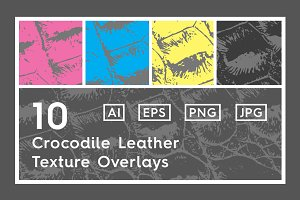 10 Crocodile Leather Texture Overlay