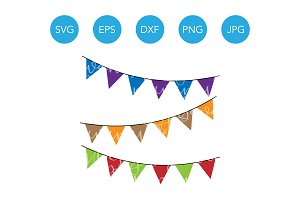 Flag Banner SVG File and Clipart