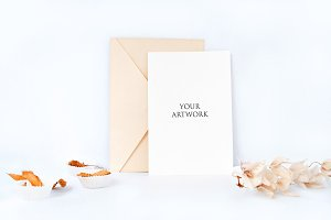 Greetingcard Front View Mockup 10065