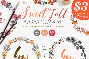 8 Sweet Fall Wedding Monograms X