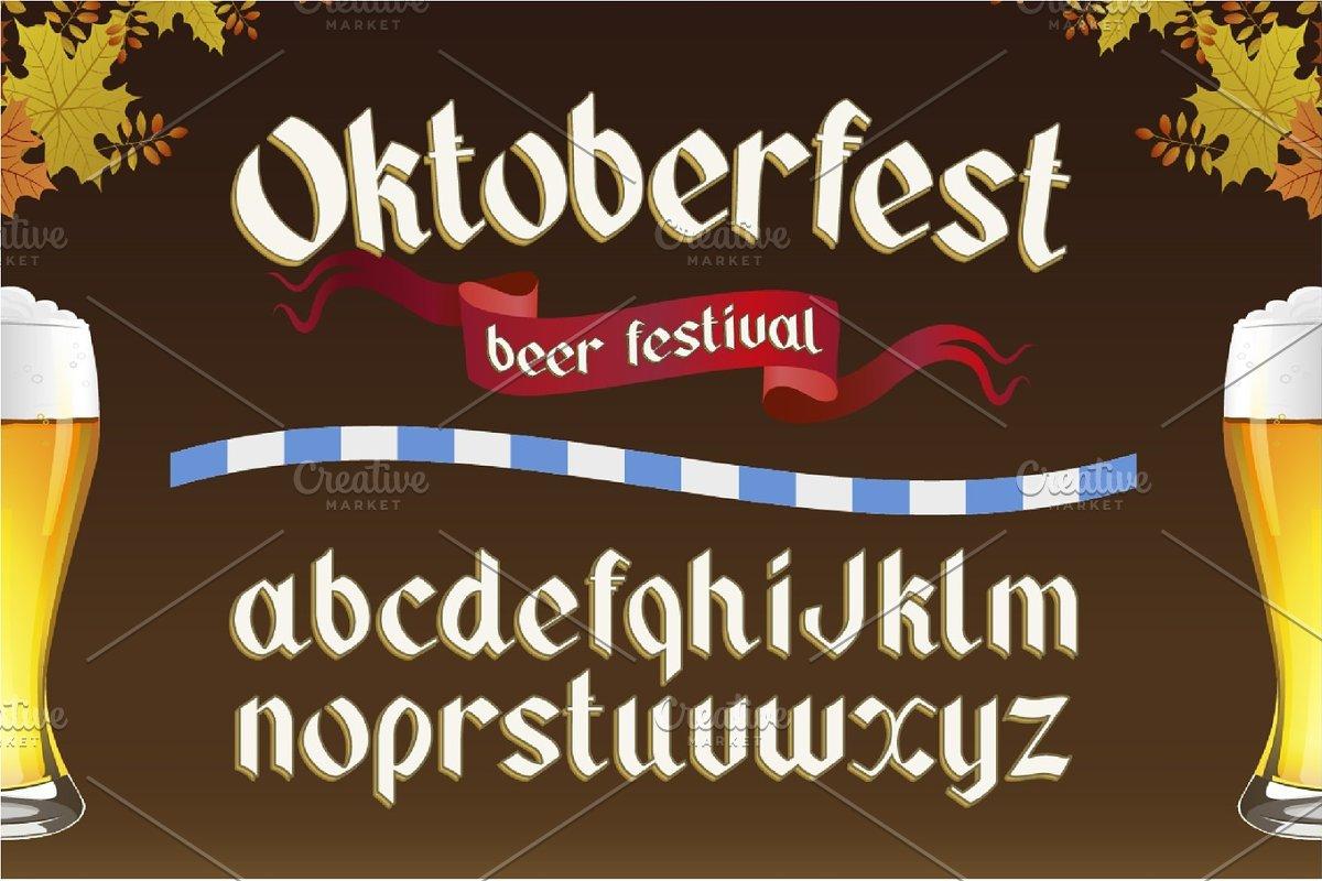 Oktoberfest  OTF gothic font