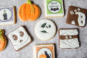 Homemade biscuits for Halloween