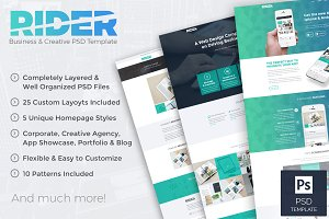 Rider - Business PSD Template