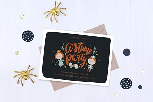 2 Halloween Party Invites for Kids