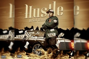 HUSTLE MIXTAPE COVER TEMPLATE