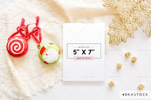Christmas Card Mock-up - PM036