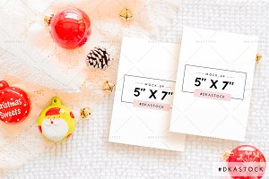 Christmas Card Mock-Up - PM041
