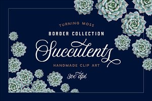 Succulent Borders - Botanic ClipArt
